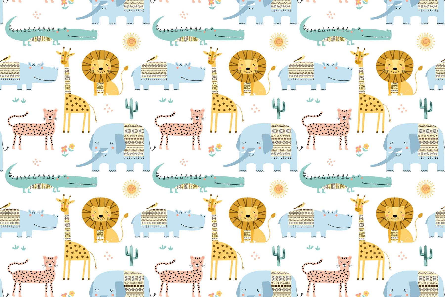 Behang Safari Dieren