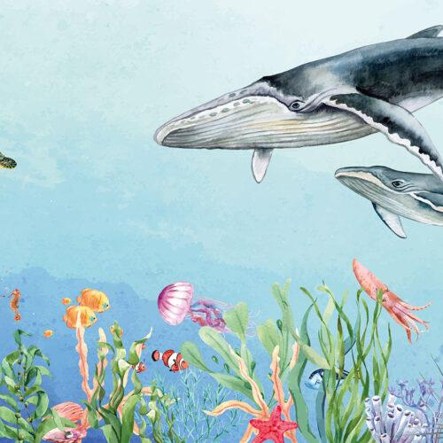 Diep in de zee behang kinderkamer