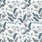 WP-017-tropical birds blauw