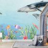 Oceaan met walvissen