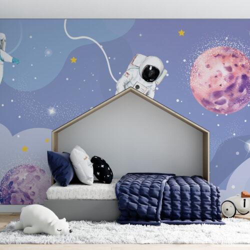 Ruimtebehang met astronauten