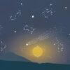 Behang met sterrenbeelden