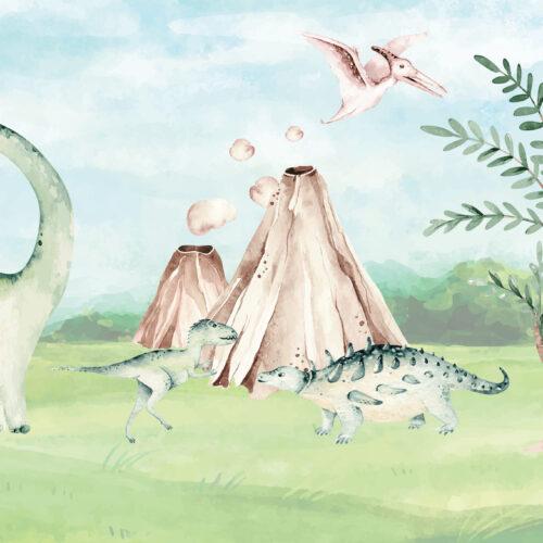 Dinosauriërs op de vlakte