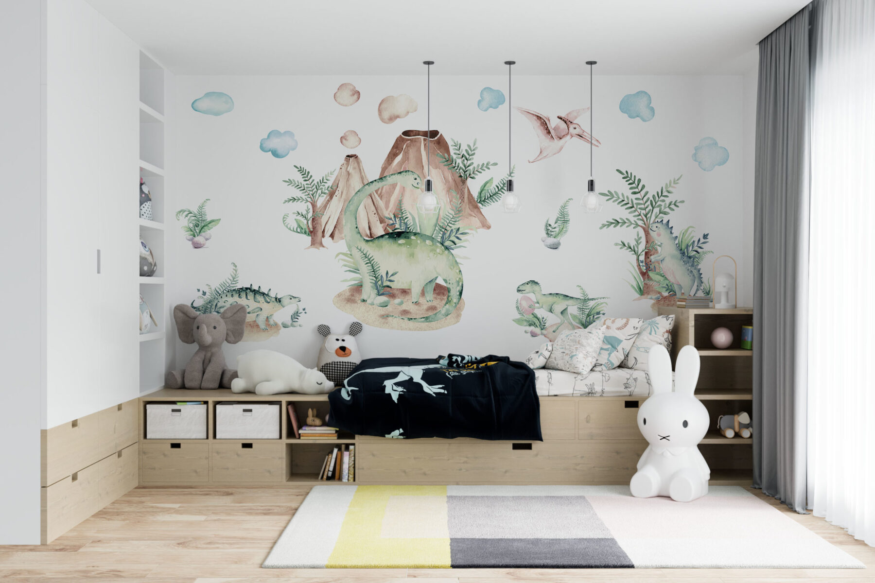 Dinosauriërs behang