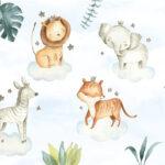 Safari Dieren op Wolken