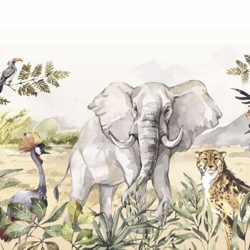 Behang Dieren van de savanne
