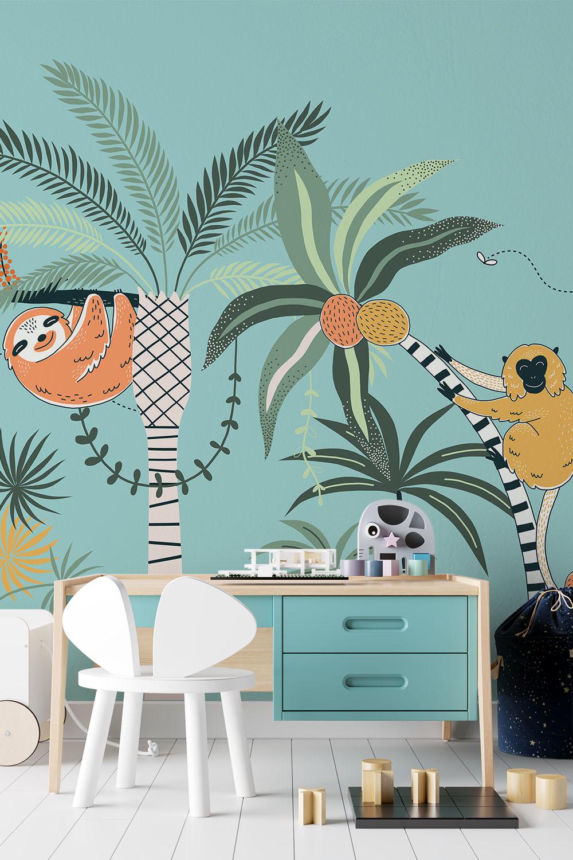 Jungle behang voor hippe kids - Gebungel in de jungle ~ Walloha.com