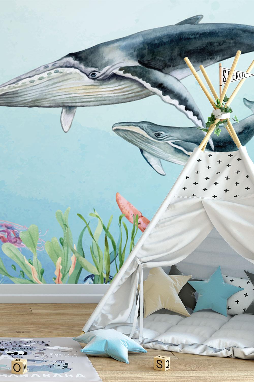 Oceaan behang voor kinderen - Diep in de zee ~ Walloha