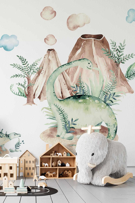 Dinosaurus behang voor jongens - Dinosaurus wereld ~ Walloha