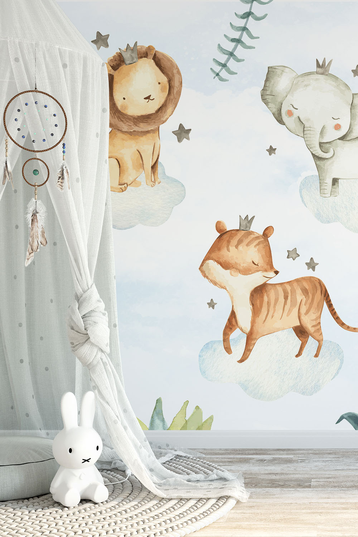 Dieren behang voor kinderen - Safari droom ~ Walloha