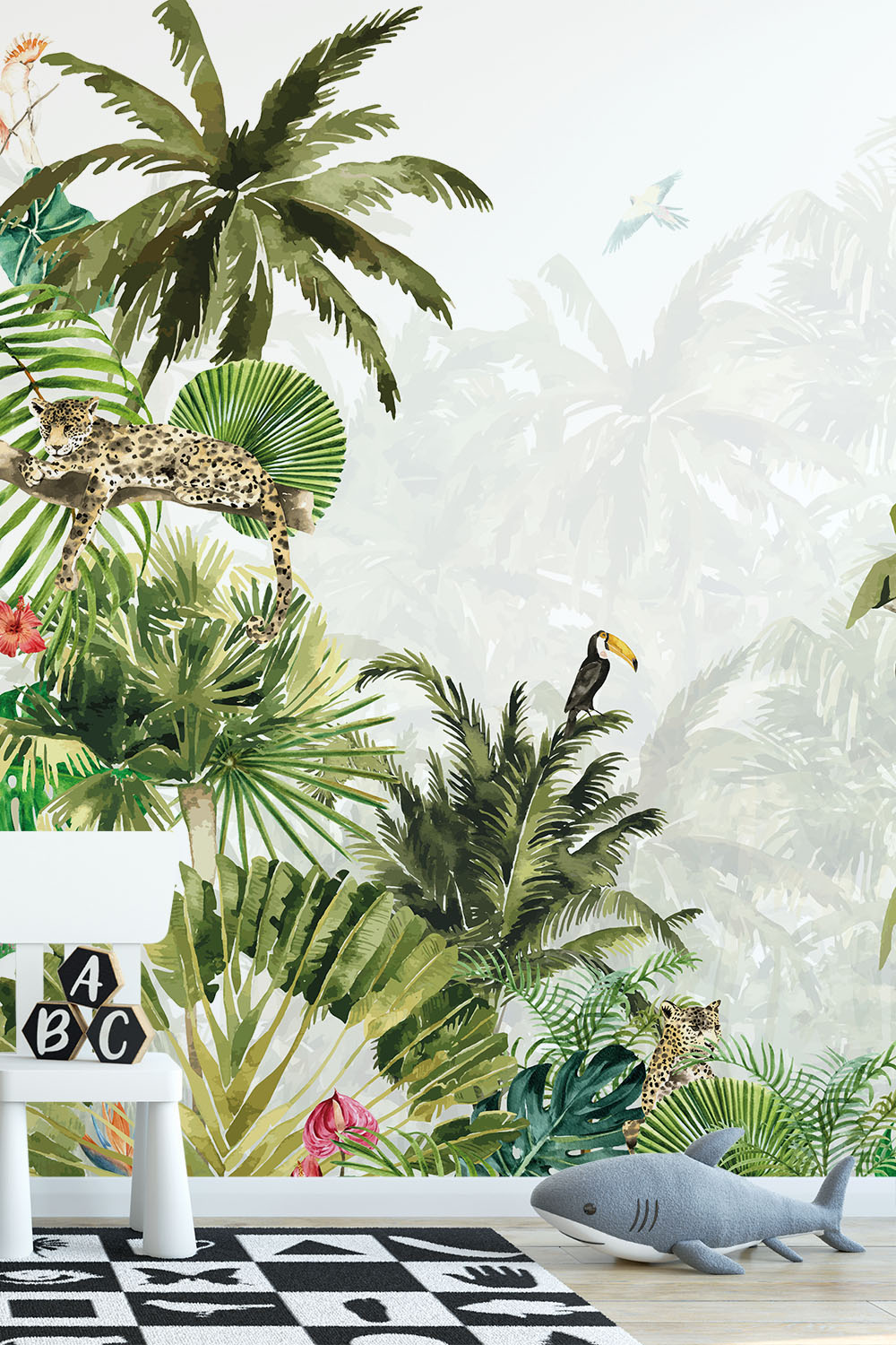 Jungle behang kinderkamer - Diep in de jungle ~ Walloha