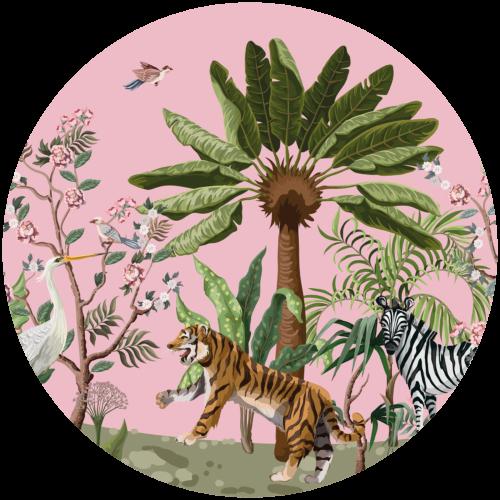 Behangcirkel Oosterse jungle