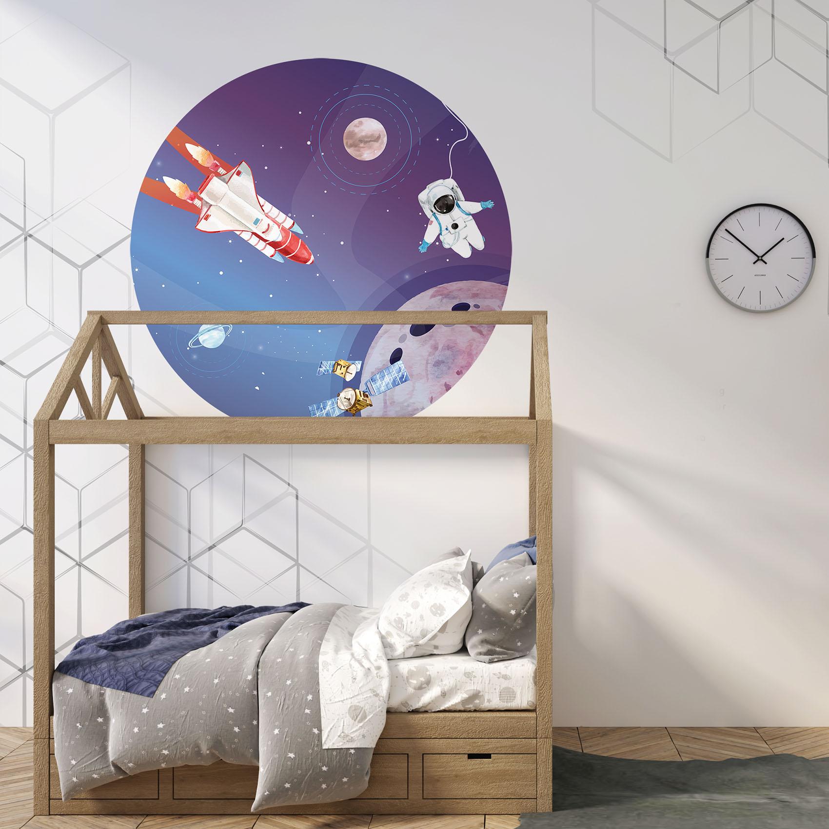 Behangcirkel Reis door de ruimte