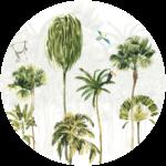 CK-035 Behangcirkel Palmbomen paradijs