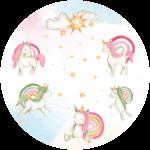 CK-038 Behangcirkel Eenhoorn sterrenregen