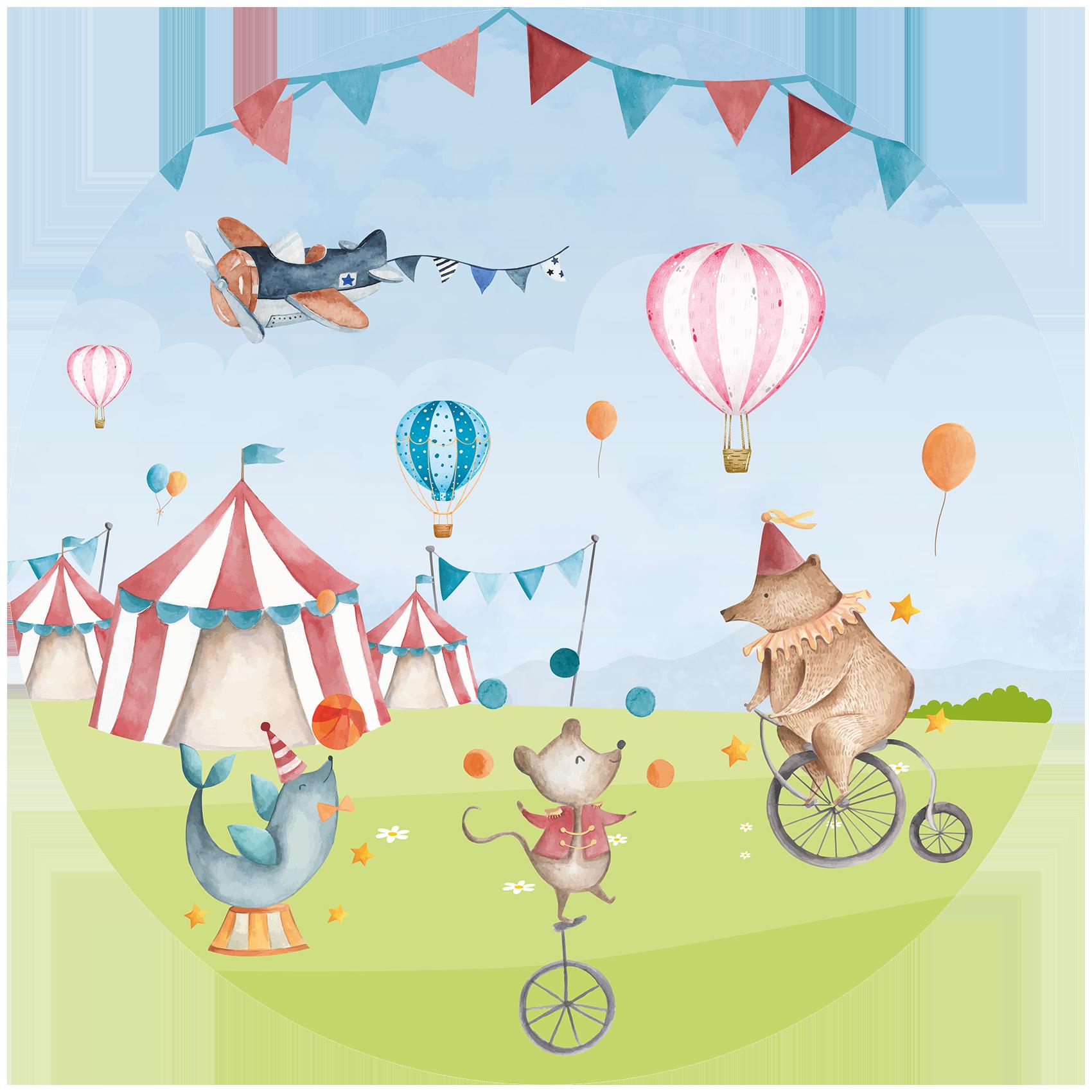 Behangcirkel Circus in het land