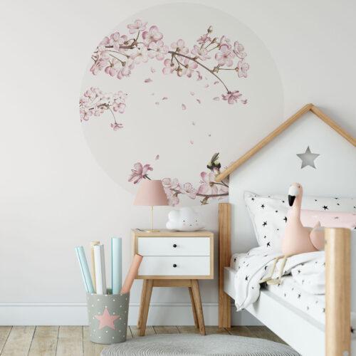 Behangcirkel Japanse kersenbloesem