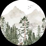CK-042-Behangcirkel Het donkere woud