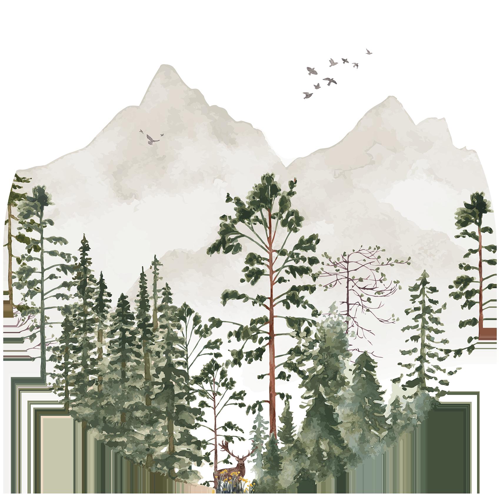 Behangcirkel Het donkere woud