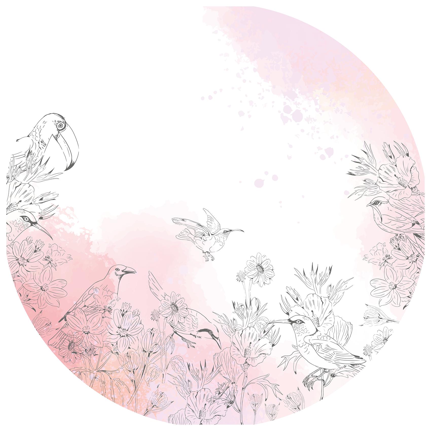 Roze bloemenwolk
