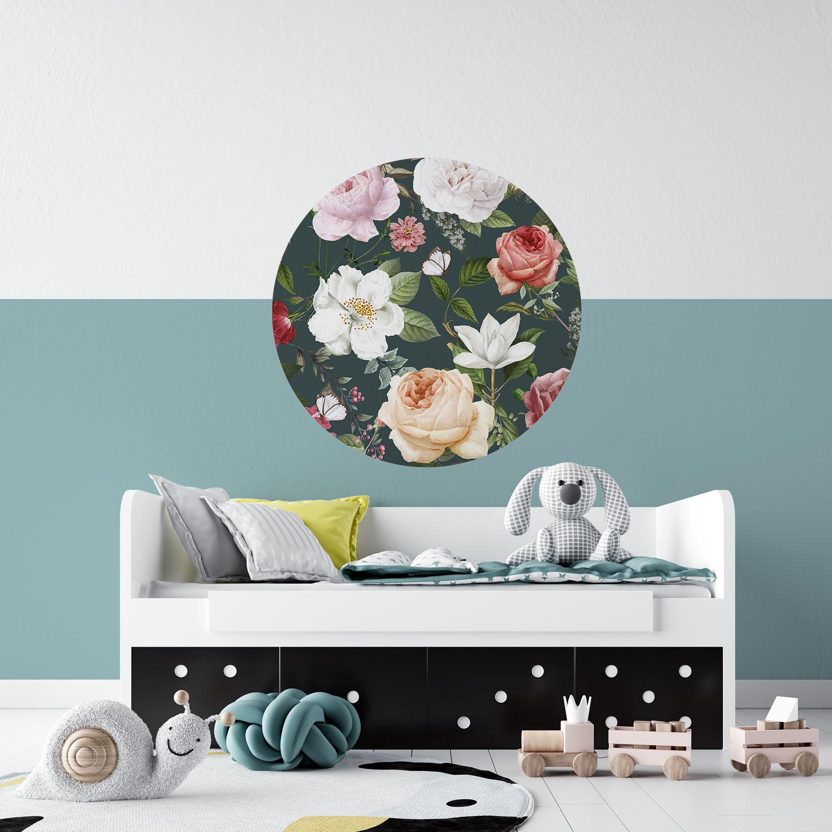 Donkere rozen behangcirkel