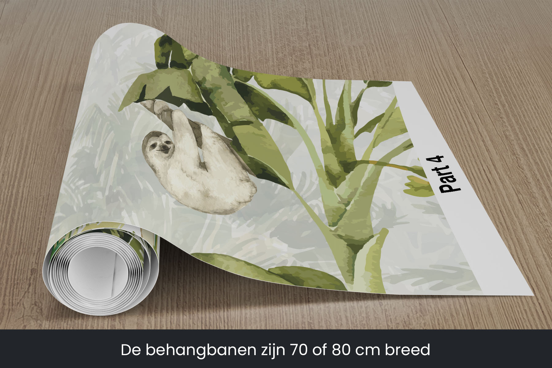 Jungle behang kinderkamer