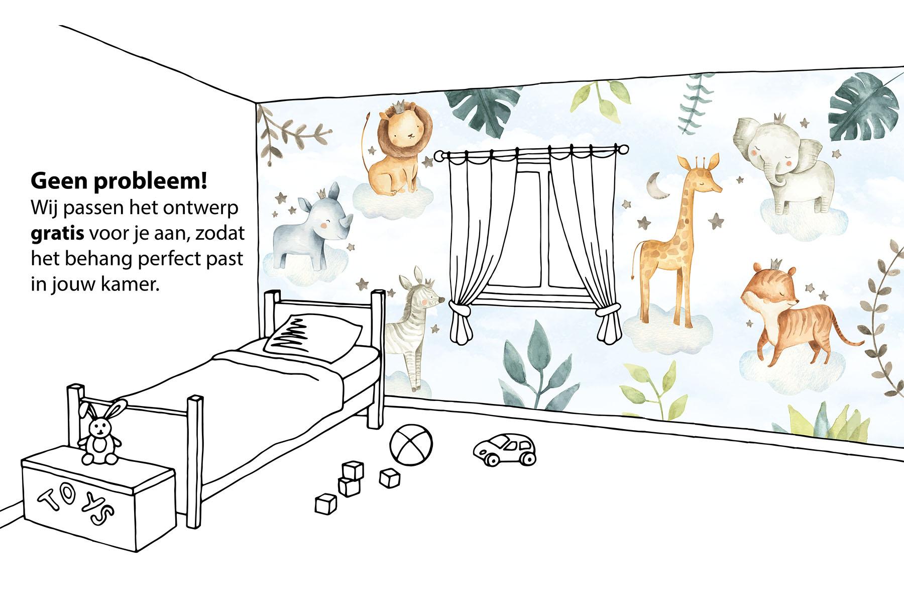 Safari droom maatwerk behang