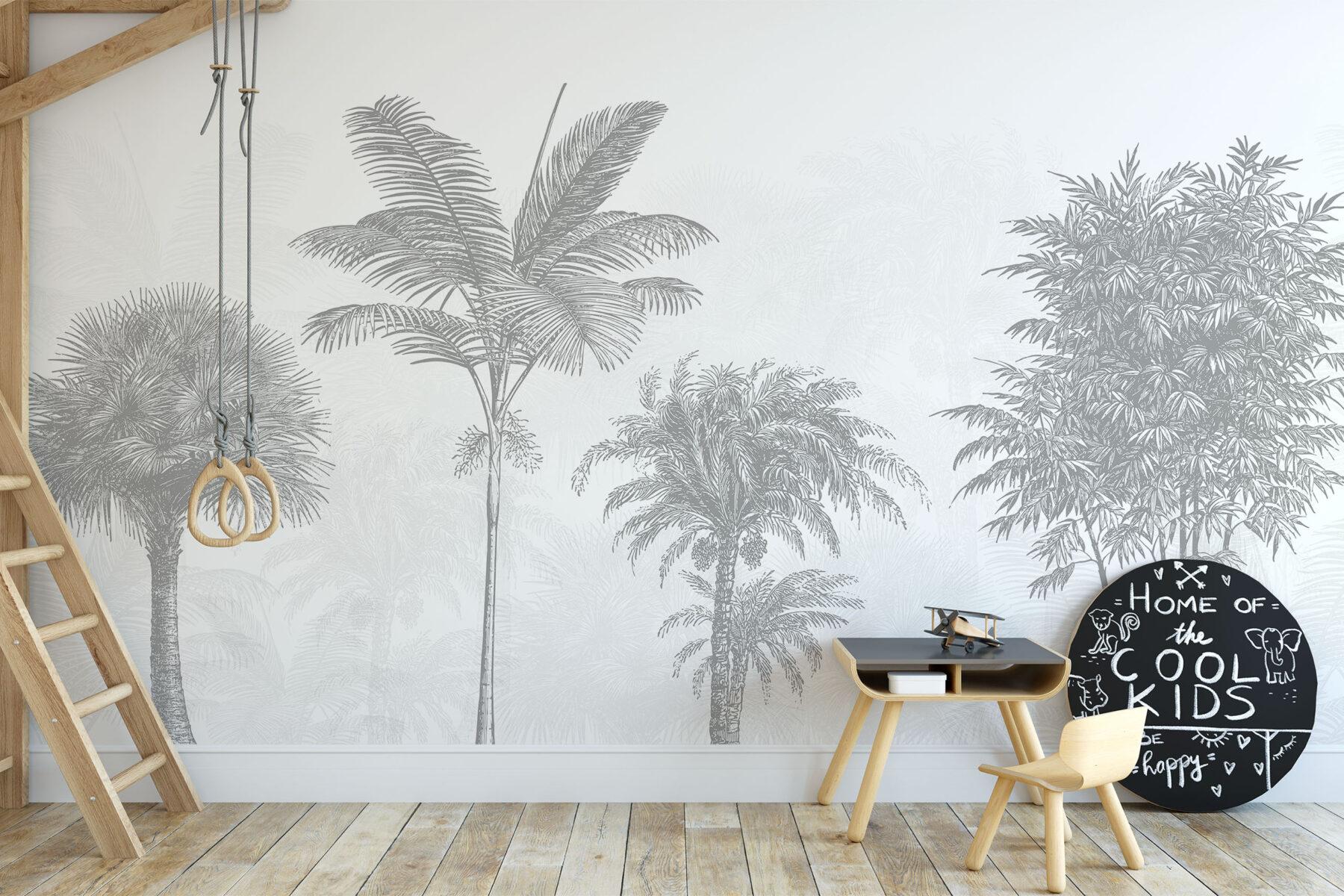Palmbomen en Bamboebossen behang