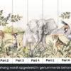 Dieren van de savanne behangbanen