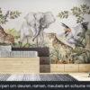 Dieren van de savanne behang