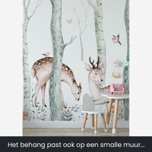 Herten behang kinderkamer