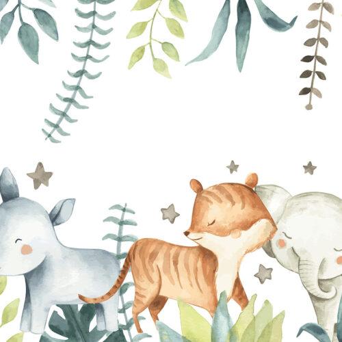 Behang Schattige safari dieren