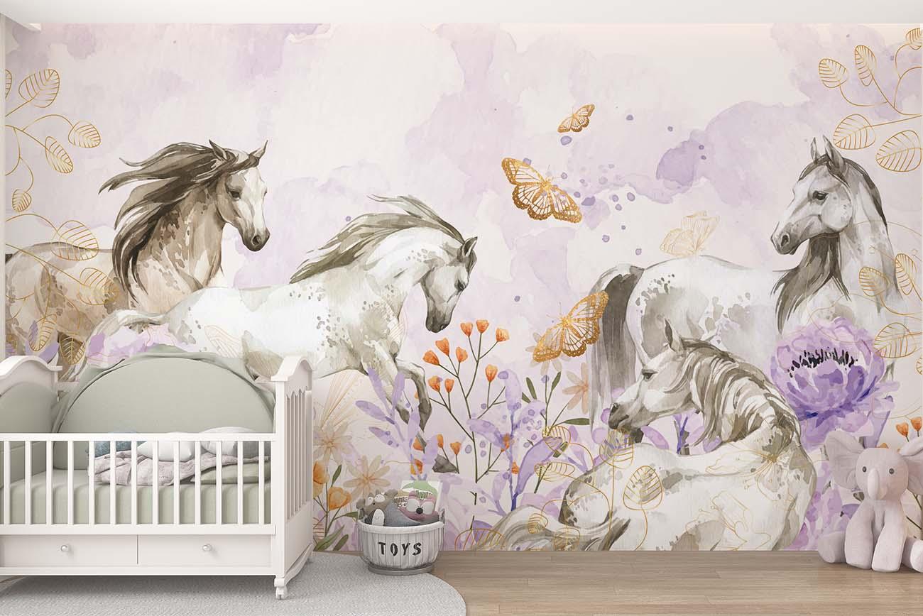 Behang - Paarden pracht