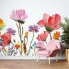 Behang - Wilde bloemen